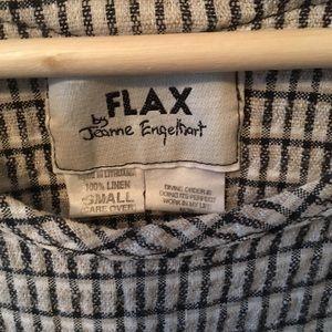 FLAX by Jeanne Engelhart RARE checkered linen top